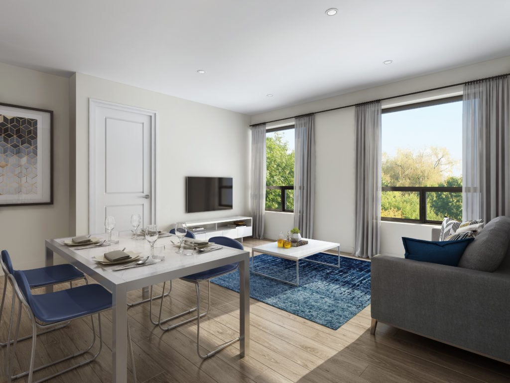 One Wellington Condos Living Room