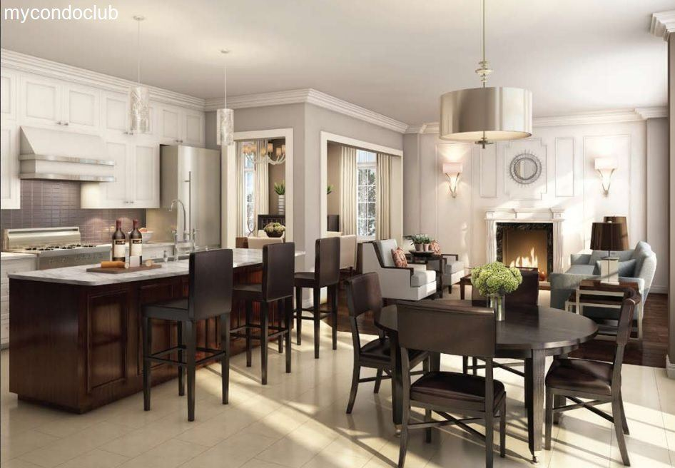 kitchen Grand River Woods Townhomes